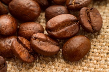Кофейные зерна, макро