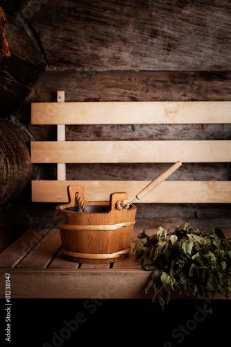 Leinwandbild Motiv Sauna time