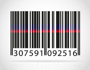 barcode with the strip from the laser vector illustration