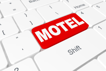 """Red button """"Motel"""" on keyboard"""