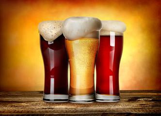 Three sorts of beer
