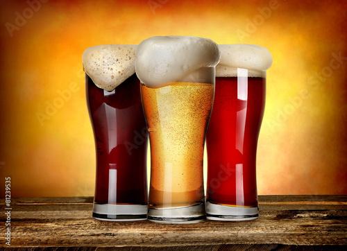 Three sorts of beer - 81239535