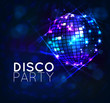 background with disco ball - 81239771