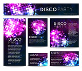 Fototapety background with disco ball