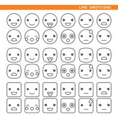 Line emoticons.