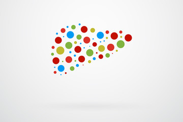 Human Liver Abstract Vector