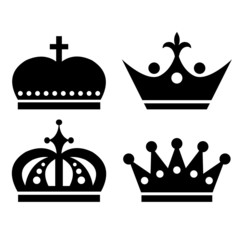 Crown vector icon set