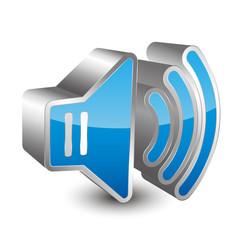 Volume 3D icon