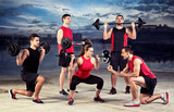 lifting training with trainer