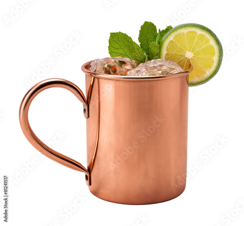 Foto op Plexiglas Alcohol Moscow Mule in a Copper Mug