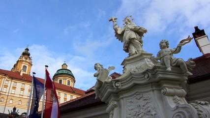 timelapse of the monastery of Melk in Austria