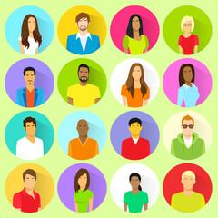 profile set icon avatar mix race ethnic