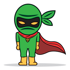 a cartoon illustration of a little ninja