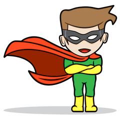 A cartoon of a superhero