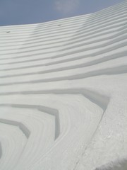 Traditional white bermuda roof pattern. Abstract.