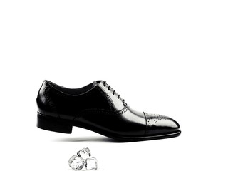Men shoes with ice