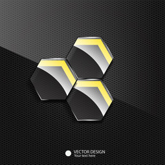 Glossy vector background design