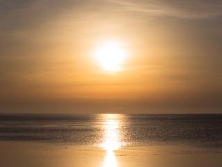 北海道宗谷岬沖の夕日
