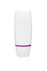 White tube mock-up for cream packaging collection in purple