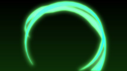 Abstract animated separated moving volumetric ring