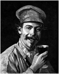 Smiling Man : Drinking - 19th century