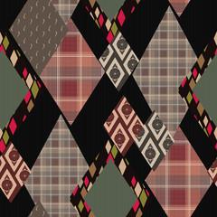 Patchwork horizontal design seamless floral pattern ornament bac