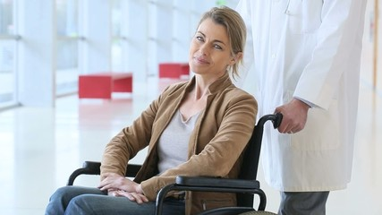 Mature woman in wheelchair