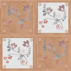 Oriental traditional ornament seamless pattern, tile design, ill