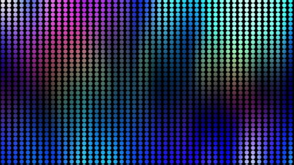 Abstract multicolor looping dot pattern animated background