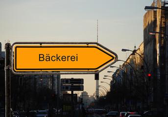 Strassenschild 37 - Bäckerei
