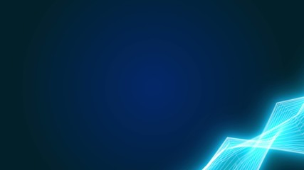 Minimalistic dark blue background with moving energy lines