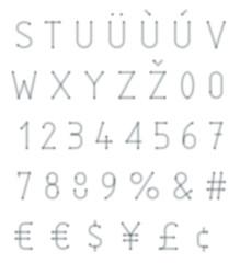 blurred typeset