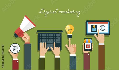Digital marketing concept - 81247757