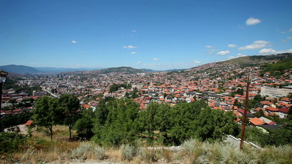 Panoramic view of the city of Sarajevo