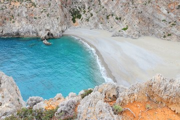 Agiofaraggo beach in Crete, Greece