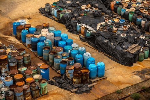 Several barrels of toxic waste - 81249302