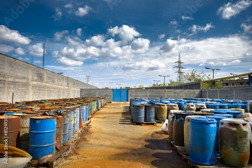 Several barrels of toxic waste - 81249307