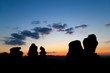 The Belogradchik Rocks at sunset