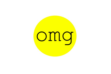 Omg sign illustration in a bubble shape
