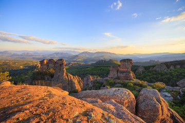 The Belogradchik Rocks at sunset, Bulgaria.