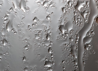 water droplets on glass as background