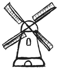 doodle windmill