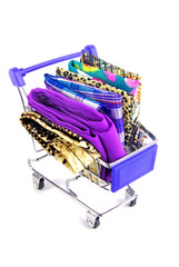 shopping trolley with textile fabric
