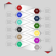 Elements of infographics for stickers and labels