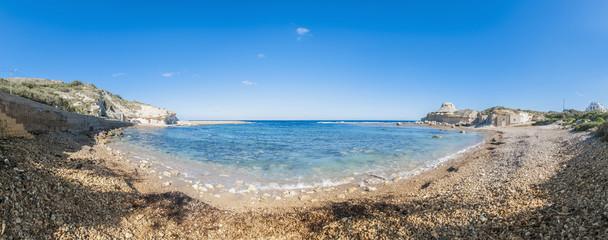 Qbajjar Bay on the island of Gozo, Malta.