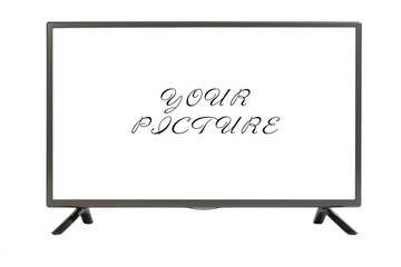 Modern TV set isolated at white background