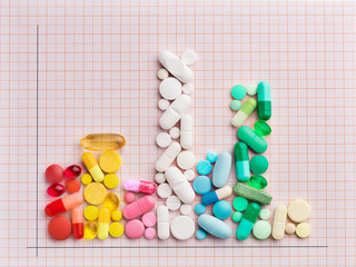Graph made of pills
