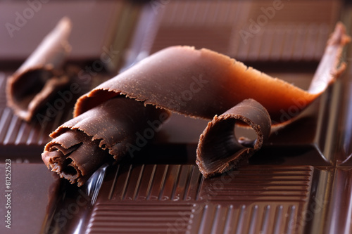 Papiers peints Confiserie Dark chocolate shavings