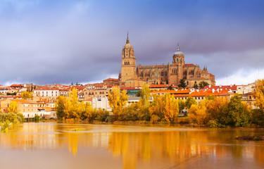Salamanca Cathedral   in november.