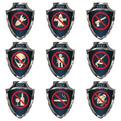 Steel shields